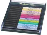 Faber-Castell Pitt Artist Pen Brush set 12 stuks pastel