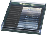 Faber-Castell Pitt Artist Pen Brush set 12 stuks grijstinten