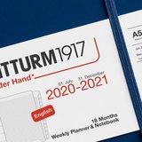 Leuchtturm Medium Agenda Weekly Planner & Notebook 2021, 18 Maanden, Navy_