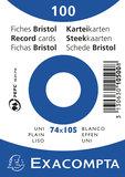 Systeemkaarten Exacompta 74x105 blanco_