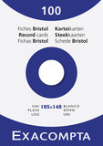 Systeemkaarten Exacompta 105x148 blanco_