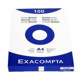 Systeemkaarten Exacompta A4 blanco_