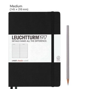 Leuchtturm Medium Hardcover Notebook Ruled