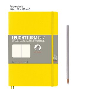 Leuchtturm B6+ Paperback Softcover Notebook Plain