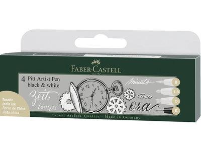 Faber-Castell set Pitt Artist Pen zwart en wit