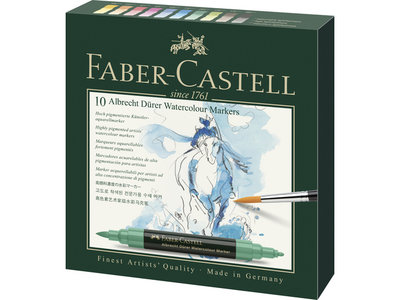 Faber-Castell Albrecht Dürer  aquarelmarker set 10 stuks