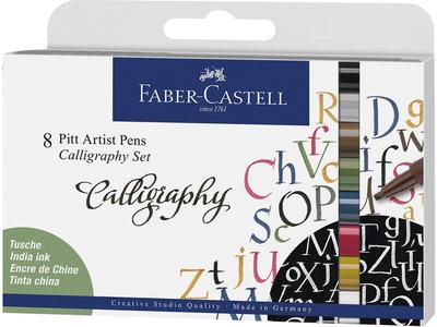 Faber-Castell Pitt Artist Pen Kalligrafieset 8