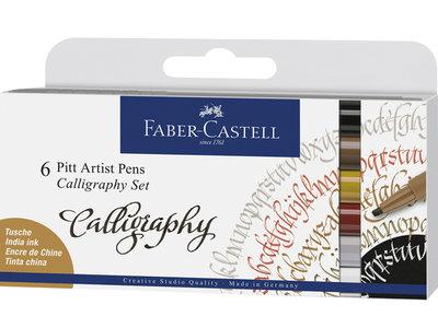 Faber-Castell Pitt Artist Pen Kalligrafieset 6