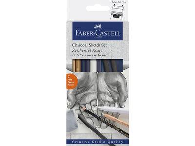 Faber-Castell Goldfaber houtskoolset