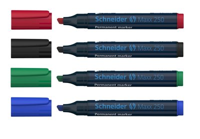 marker Schneider Maxx 250 permanent beitelpunt