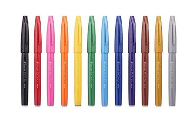 Pentel Touch Brush Sign Pen