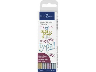 Faber-Castell pitt artist pen metallic set 4