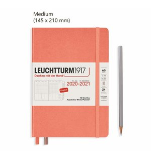 Leuchtturm Medium Academic Week Planner 2021, 18 Maanden, Bellini