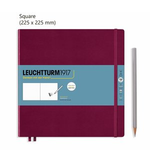 Leuchtturm Square Schetsboek Port Red