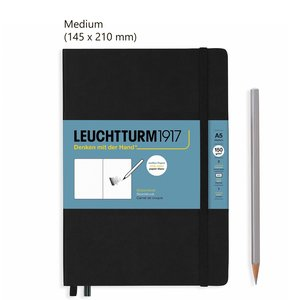 Leuchtturm Medium Schetsboek Black