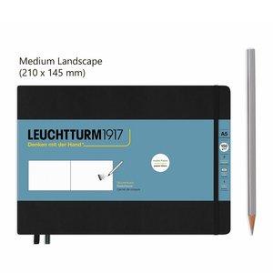 Leuchtturm Medium Landscape Schetsboek Black
