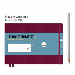 Leuchtturm Medium Landscape Schetsboek Port Red