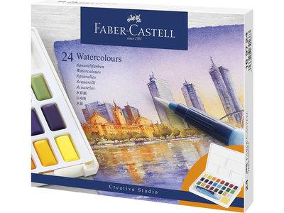 Faber-Castell Aquarel verf in box met 24 kleuren