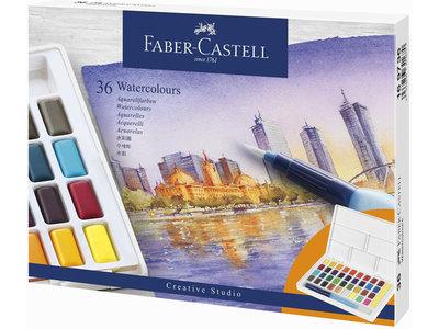Faber-Castell Aquarel verf in box met 36 kleuren