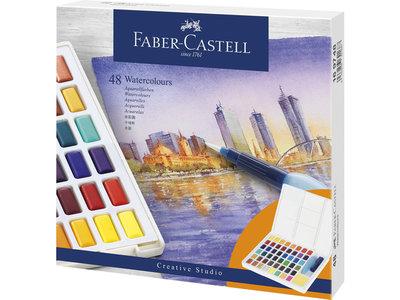 Faber-Castell Aquarel verf in box met 48 kleuren