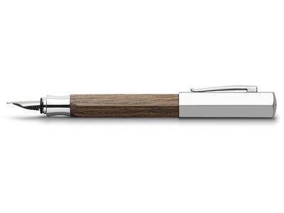 Faber-Castell Ondoro Vulpen gerookt eikenhout