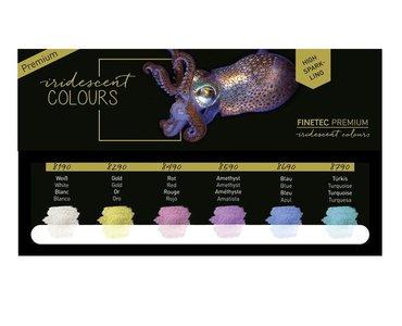 Finetec Aquarelverf Premium Iridescent tones set 6 stuks