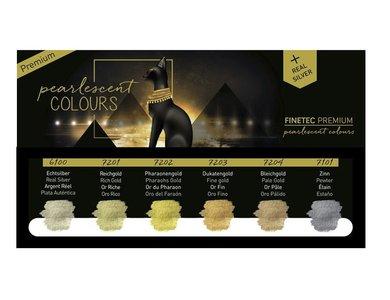 Finetec Aquarelverf Premium Antique tones set 6 stuks