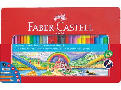 Faber-Castell Cadeauset 53-delig in metalen doos