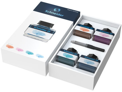 Schneider Pastelinkt Giftbox (Apricot, Lilac, Bermuda Blue, Ice Blue)
