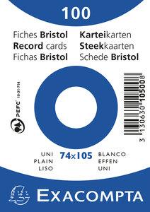 Systeemkaarten Exacompta 74x105 blanco