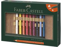 Faber-Castell A.Dürer Magnus Aquarelpotloden in roletui. 18 stuks met penseel
