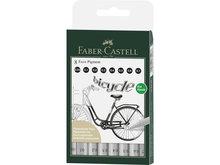 Faber-Castell Ecco Pigment Tekenpen set 8 stuks
